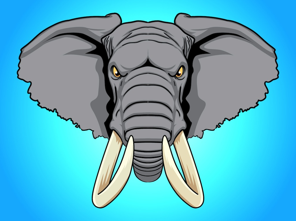 Picture Of A Cartoon Elephant.
