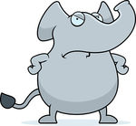 Vectors of Angry Elephant.