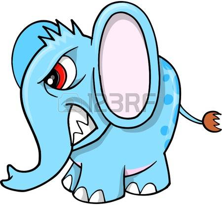 355 Angry Elephant Stock Vector Illustration And Royalty Free.