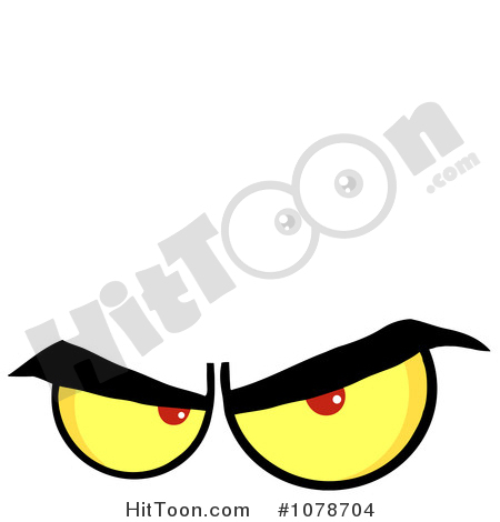 Mean Eyes Clipart #1.