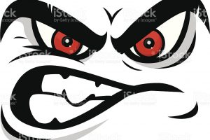 Mean face clipart 3 » Clipart Station.