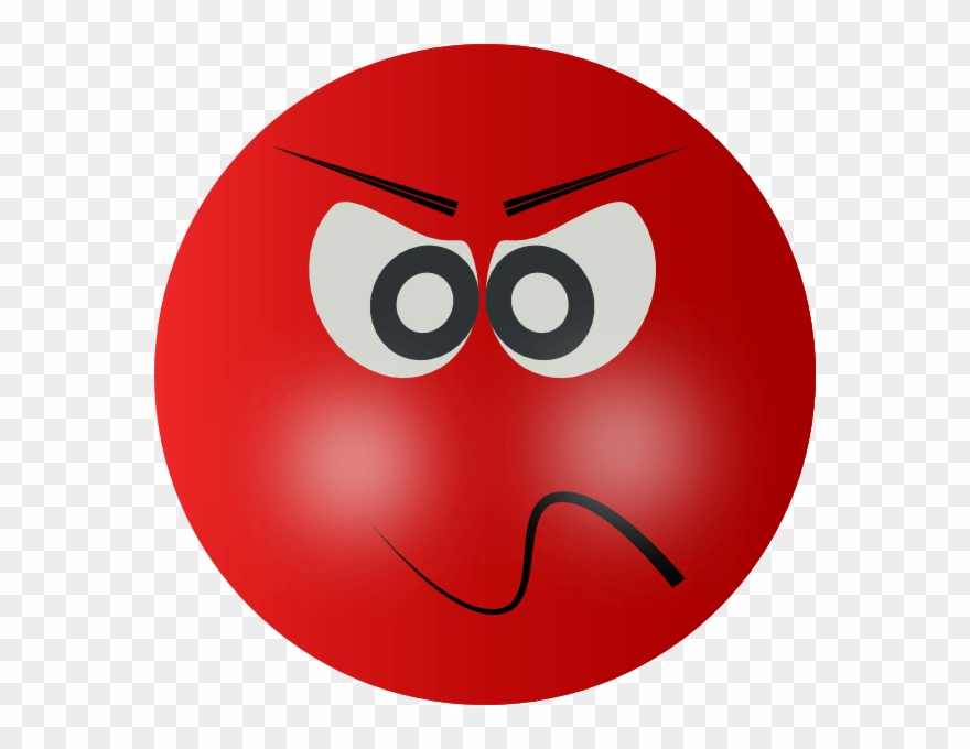 Clip Art Angry Mean Smiley Clipart.
