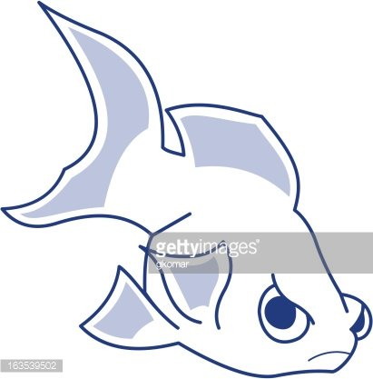 Mean Fish Clipart Image.