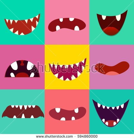 Monster Mouth Stock Images, Royalty.
