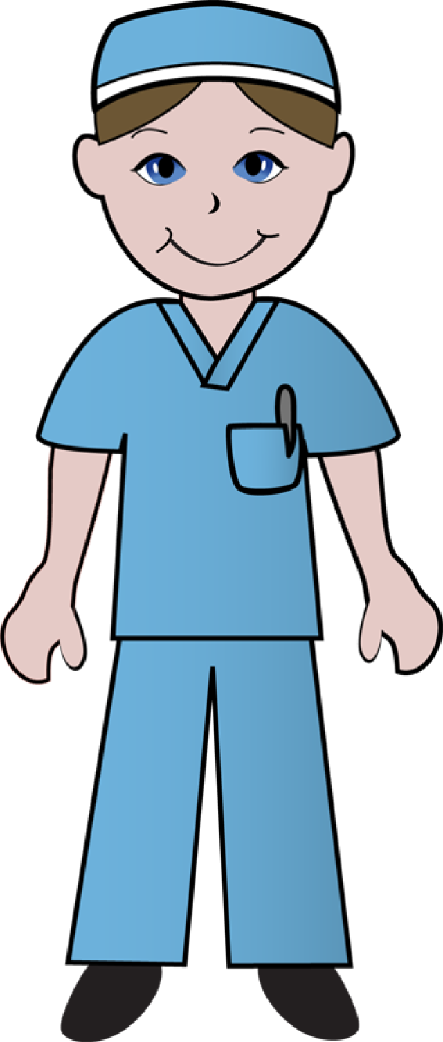 Free Clip Art Of Doctors And Nurses Nurse In Blue Scrubs.
