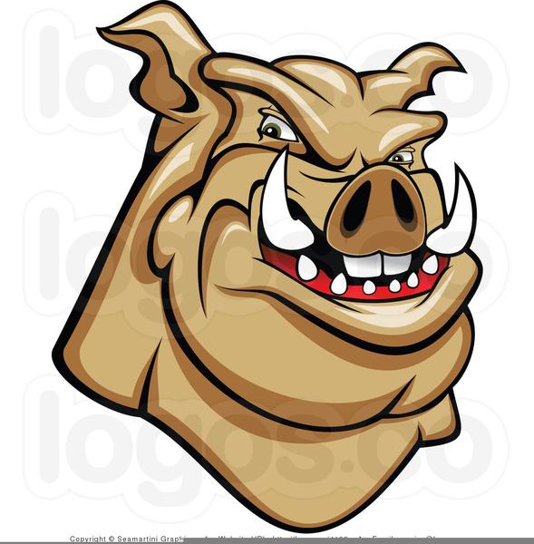 Mean Pig Clipart.