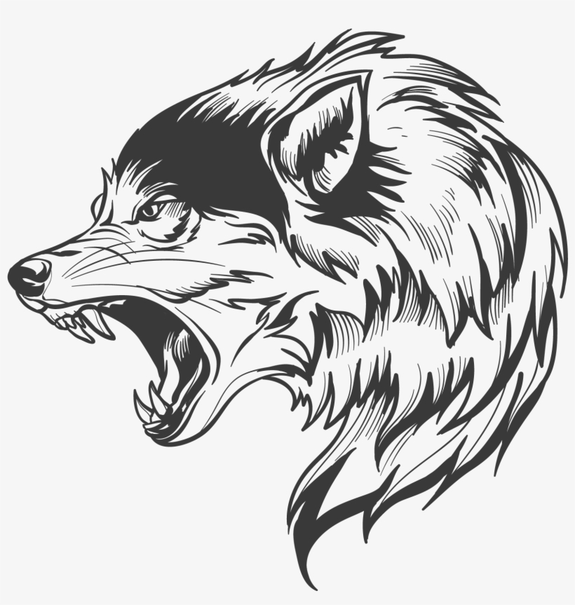 Wolf Wolf Silhouette, Wolf Head Drawing, Wolf Clipart.