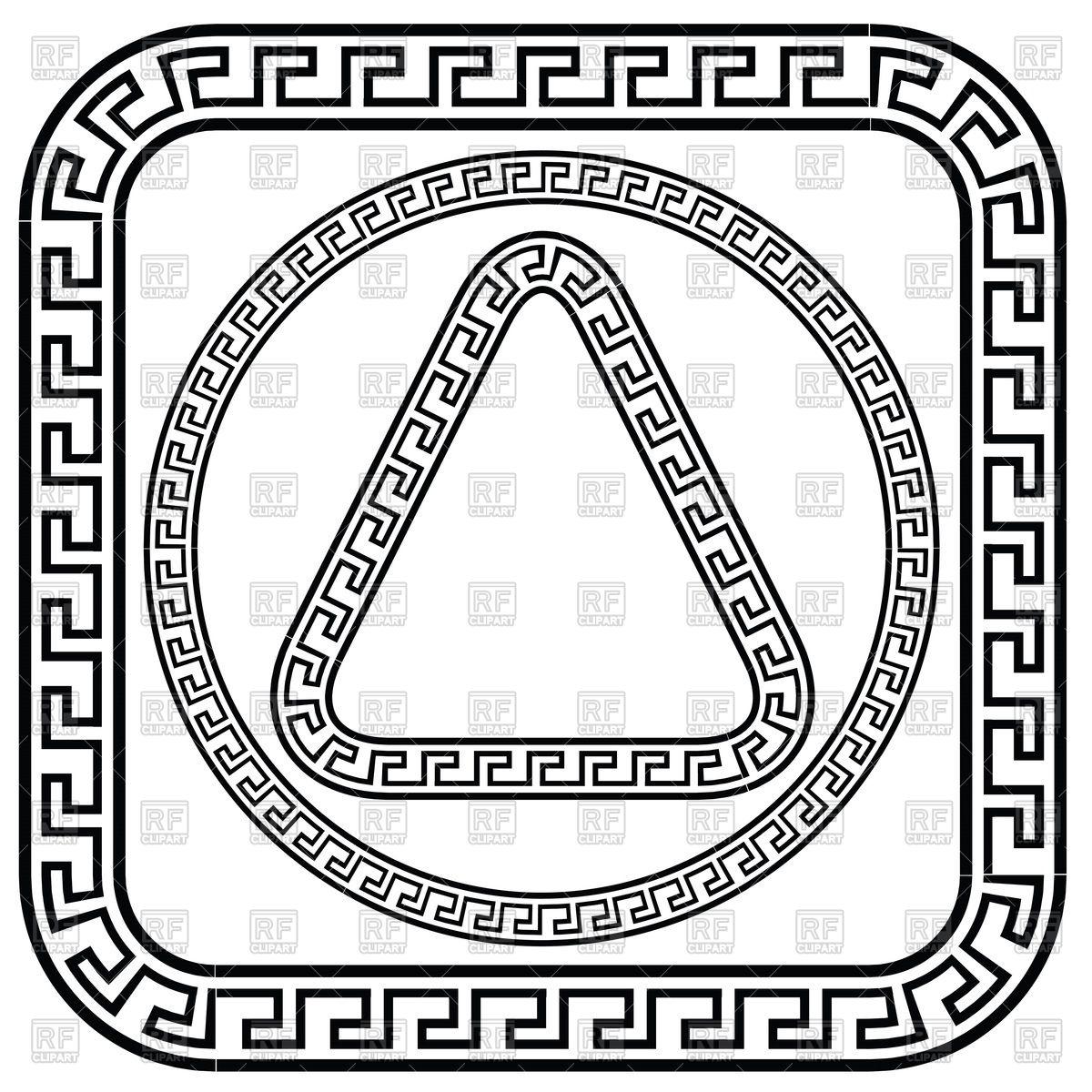 Greek meander patterns Vector Image #63272.