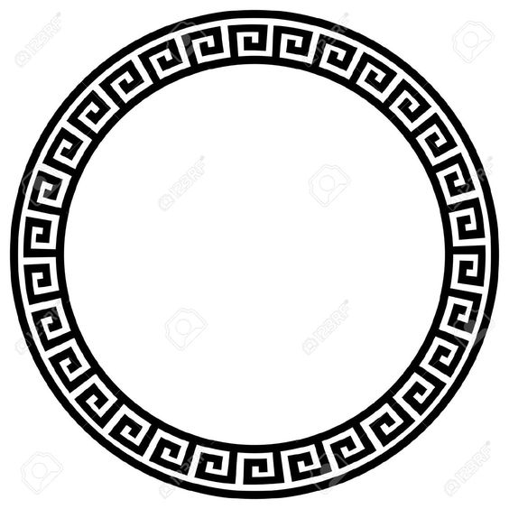 Round Frame With A Meander. Royalty Free Cliparts, Vectors, And.