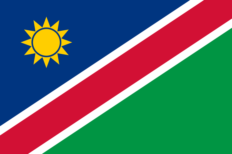 Flag of Namibia image and meaning Namibia flag.
