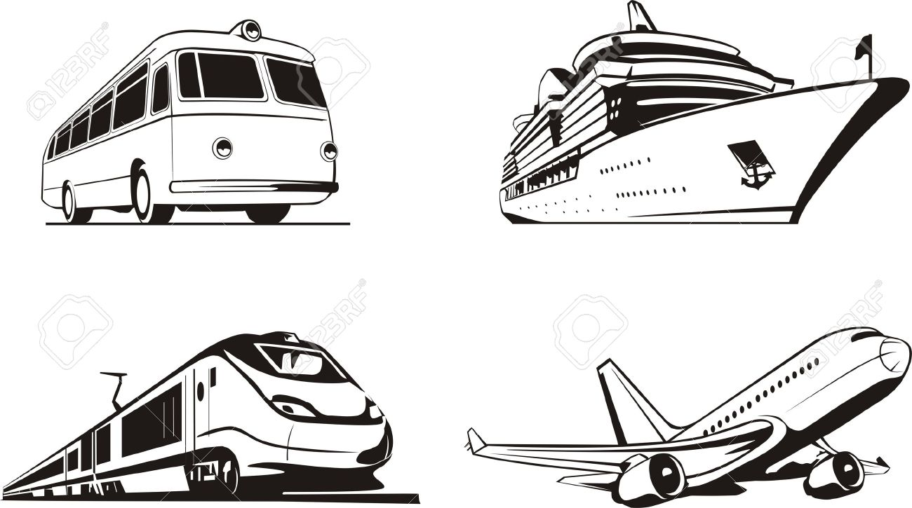 Transportation Passenger By All Means Of Transport Royalty Free.
