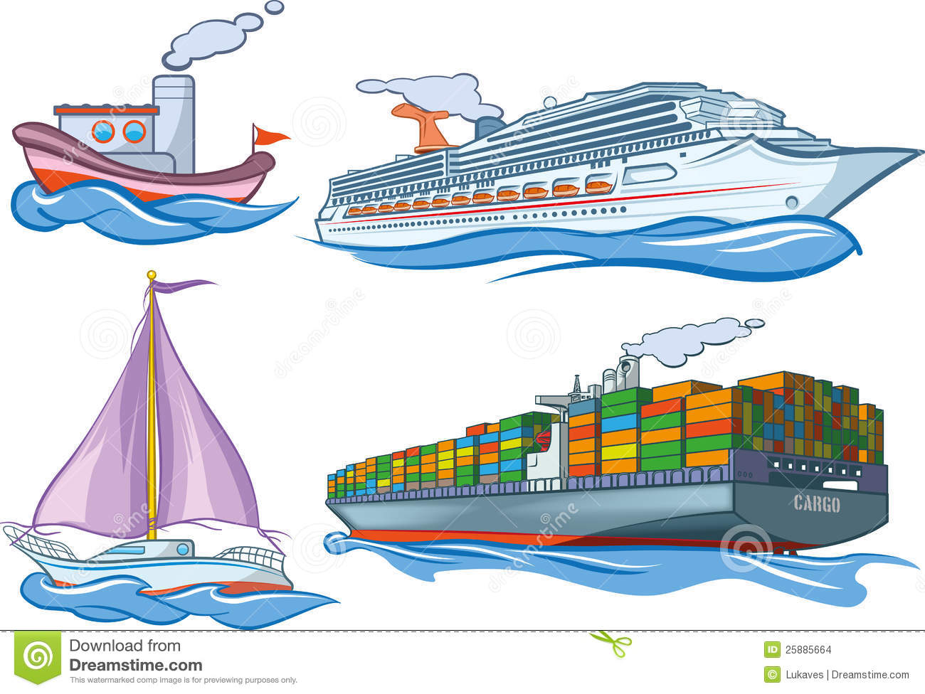 Water transport clipart.