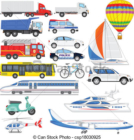 Clipart means of transport.