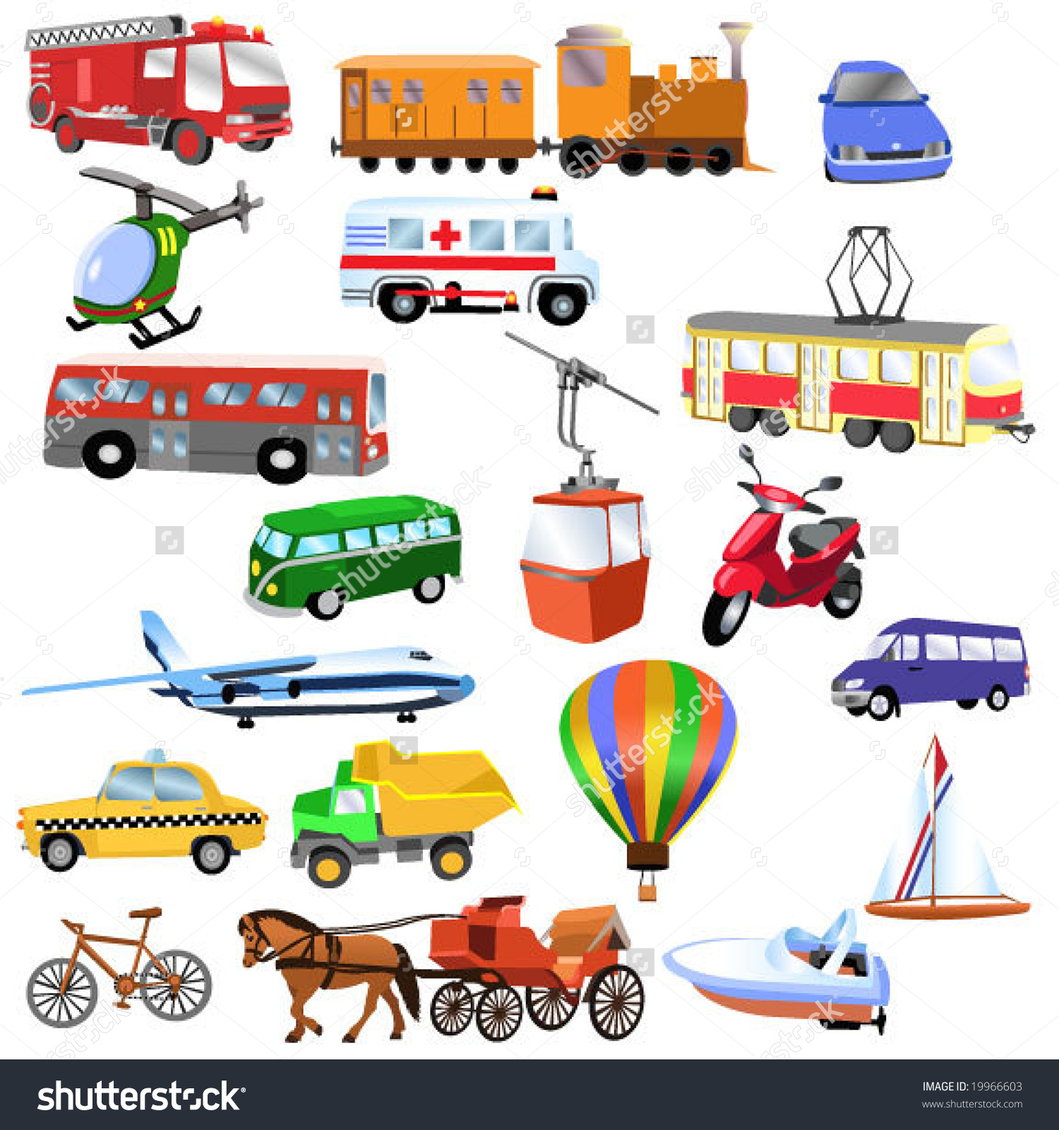means of transport clipart clipground