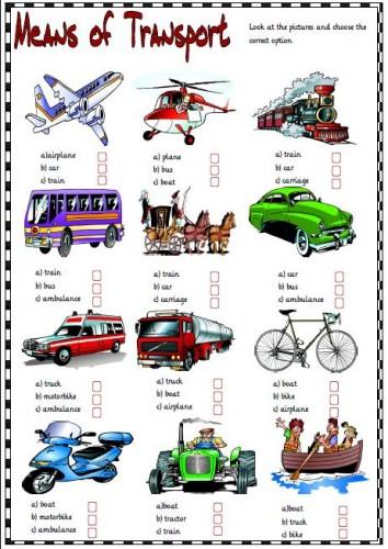 Топик транспорт на английском 130
