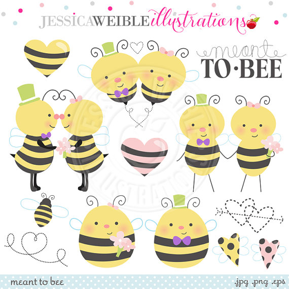 Meant 2 Bee Cute Digital Clipart for Commercial or Personal Use.