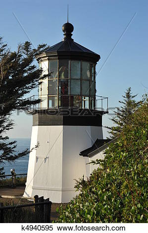 Stock Image of Cape Meares Lighthouse.