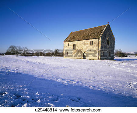 Stock Photo of England, Somerset, Meare. Abbot's fish house at.