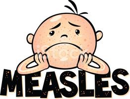 Measles stock vectors.