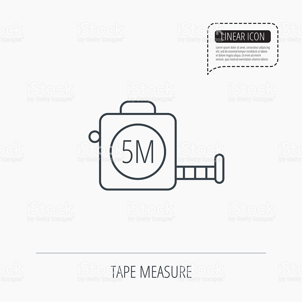 Tape Measurement Icon Roll Ruler Sign stock vector art 490343300.