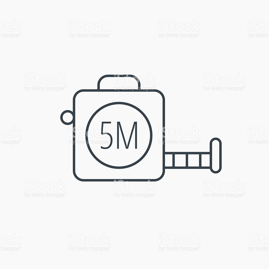 Tape Measurement Icon Roll Ruler Sign stock vector art 489044824.