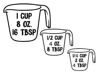 Measuring cup clip.