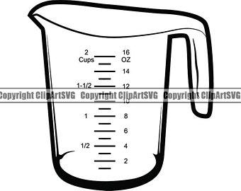 Measuring cups svg.