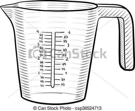 Measuring cup.