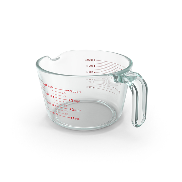 One Quart Glass Measuring Cup PNG Images & PSDs for Download.