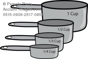 Measuring cup clip art.