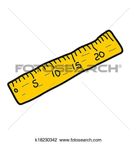 Clipart of ruler yellow measure tape measuring tool instrument.