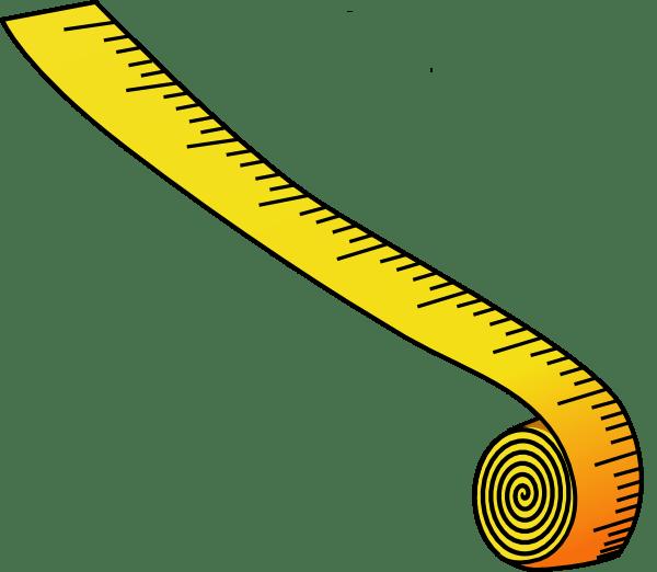 Measuring Tape Clipart transparent PNG.