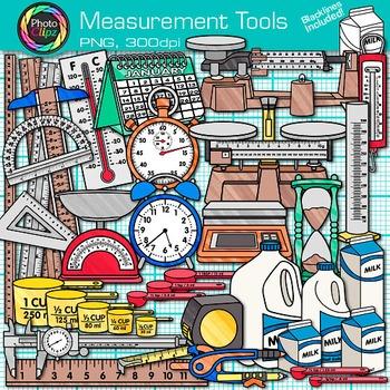 Measurement Tools Clip Art {Volume, Mass, Perimeter, Area.