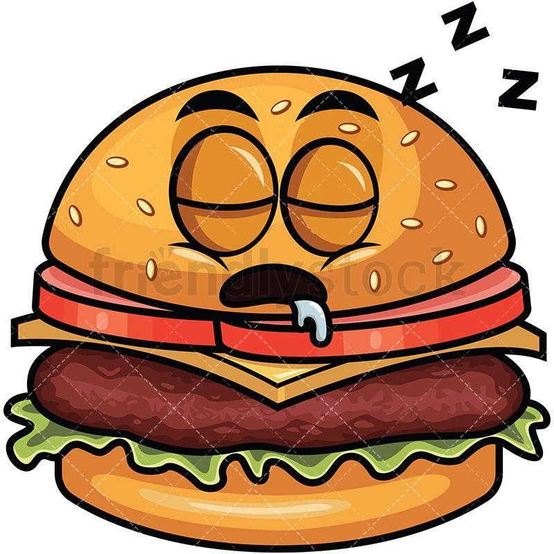 Sleeping Hamburger Emoji in 2019.