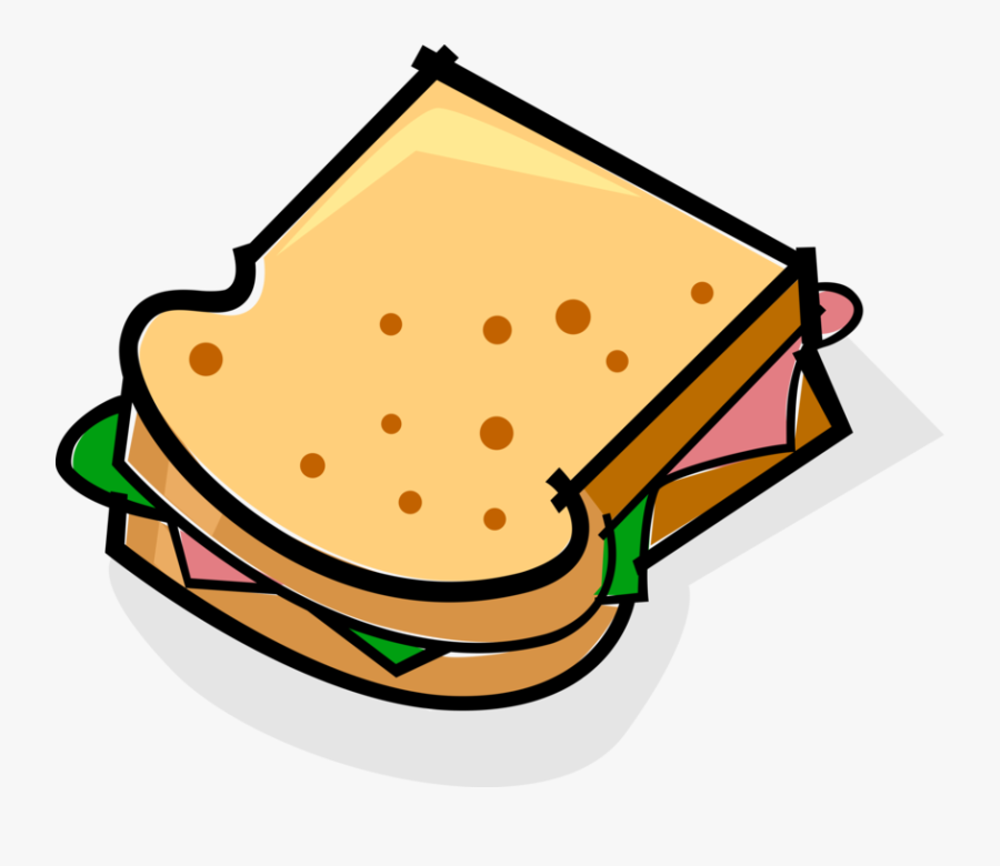Vector Illustration Of Sandwich Sliced Cheese Or Meat , Free.