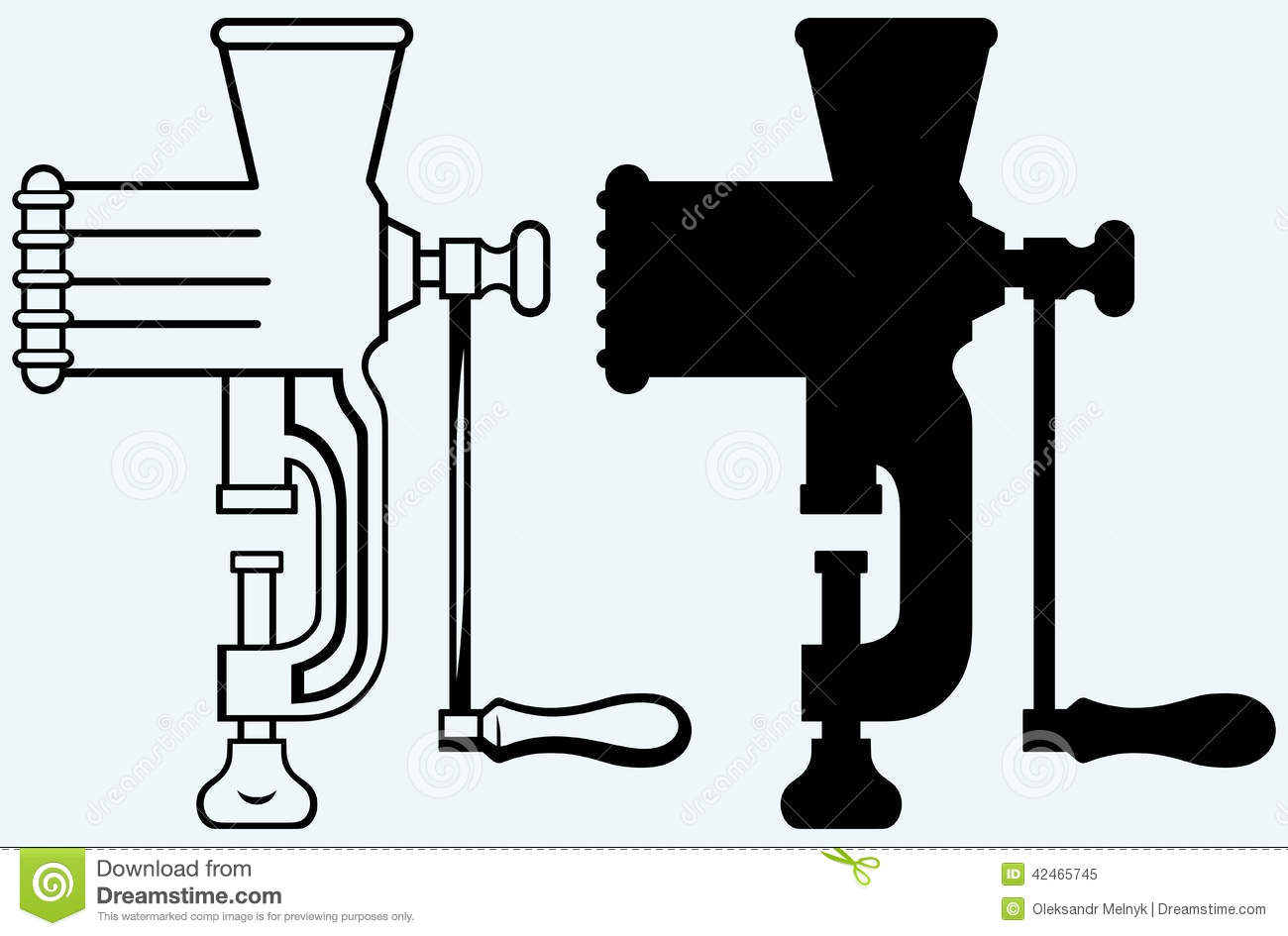 Industrial Meat Grinder Clip Art.