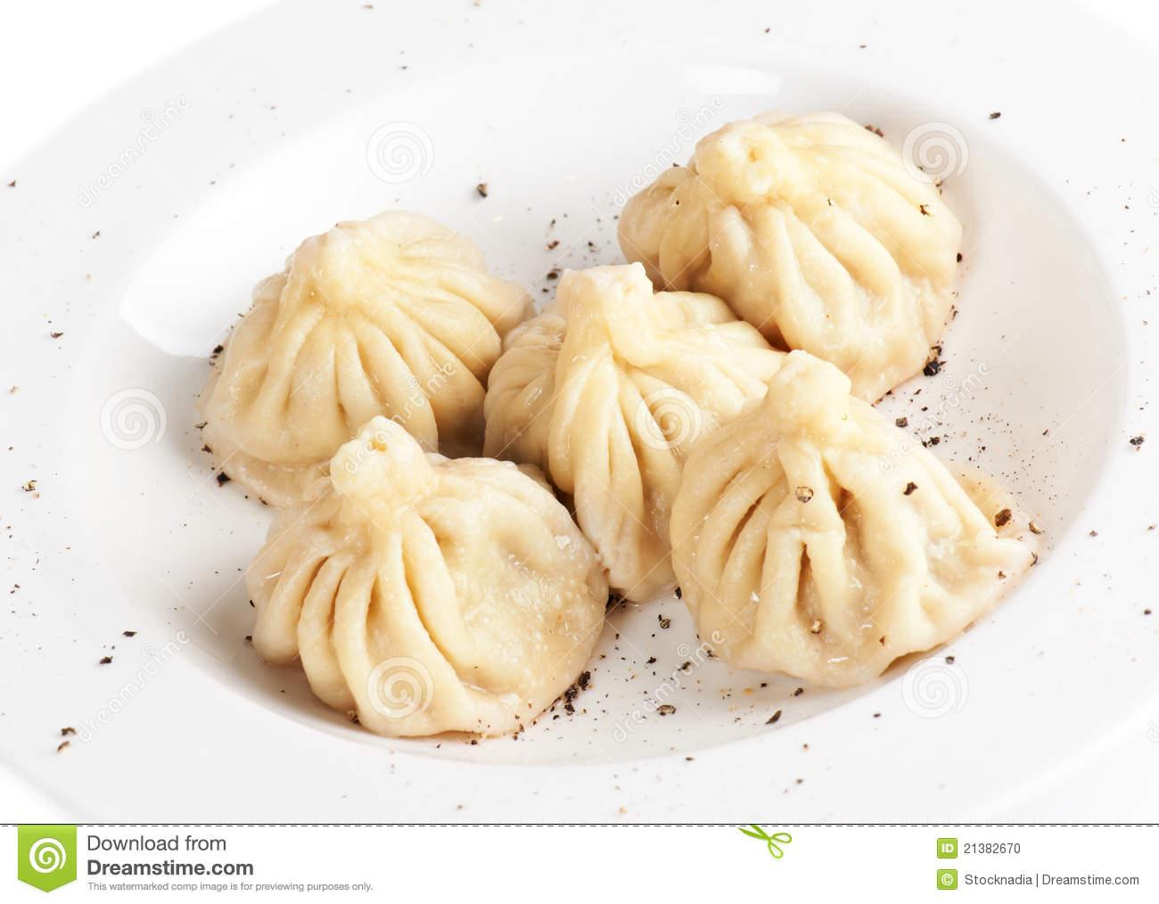Meat Dumplings Stock Photo.