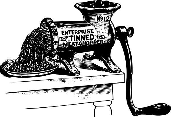Meat grinder clipart #3