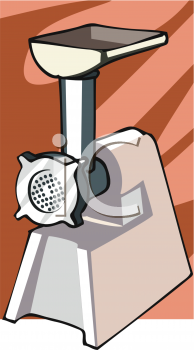 Clipart Picture of a Meat Grinder Attachment.