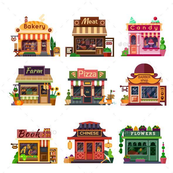 Set of Nice Shops..