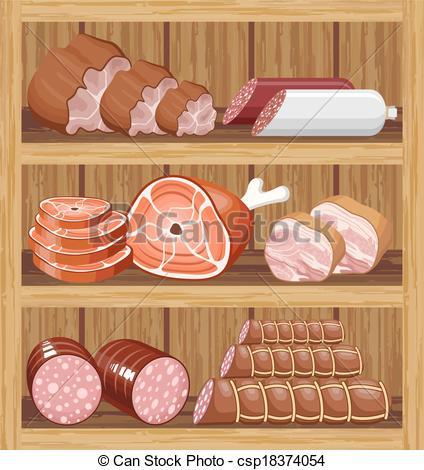 Meat Market Clipart.