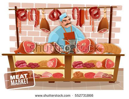 Butcher Cartoon Stock Images, Royalty.