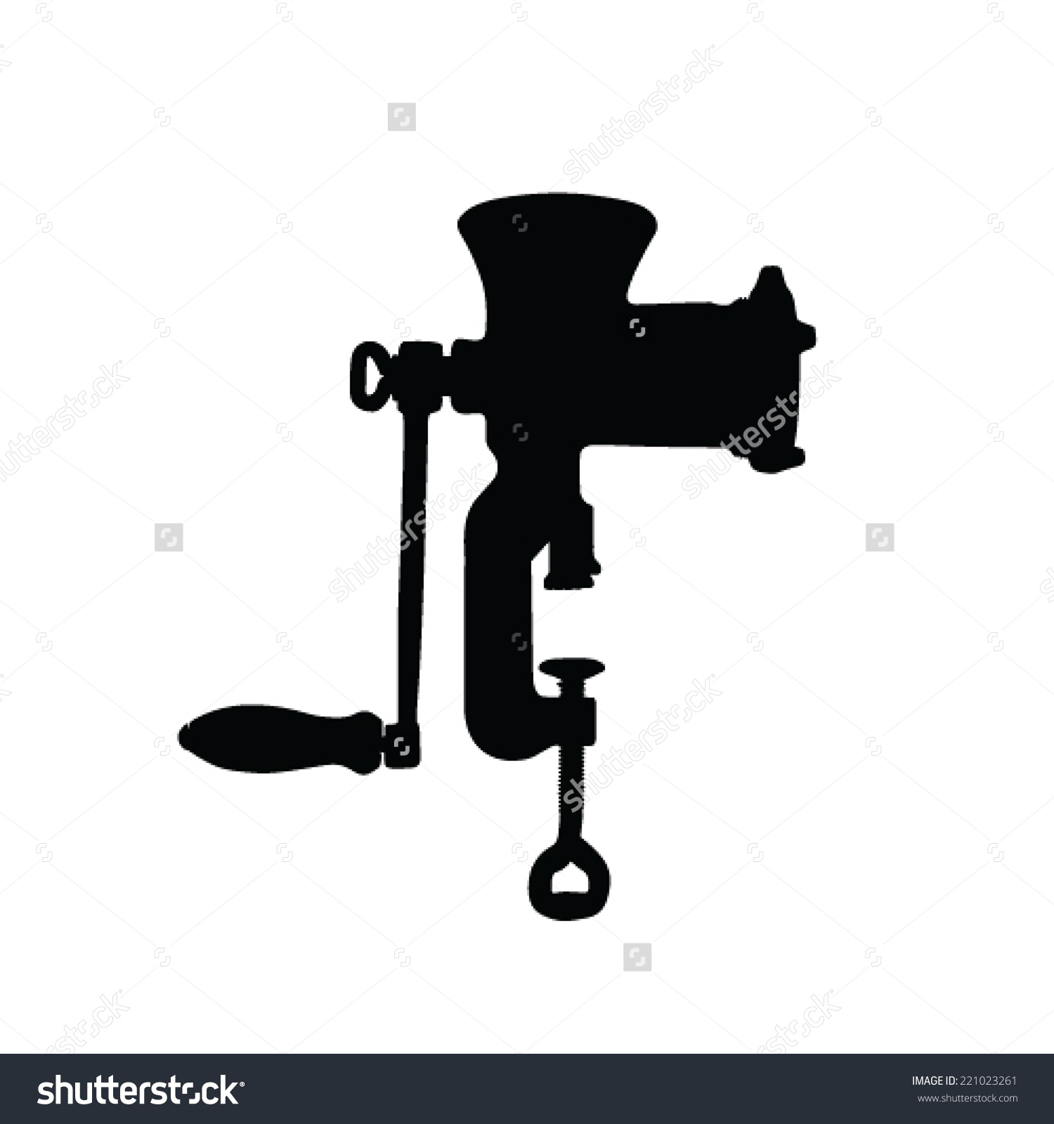 Meat Grinder Vector Silhouette Stock Vector 221023261.