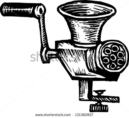 Clip Art Meat Mincer.