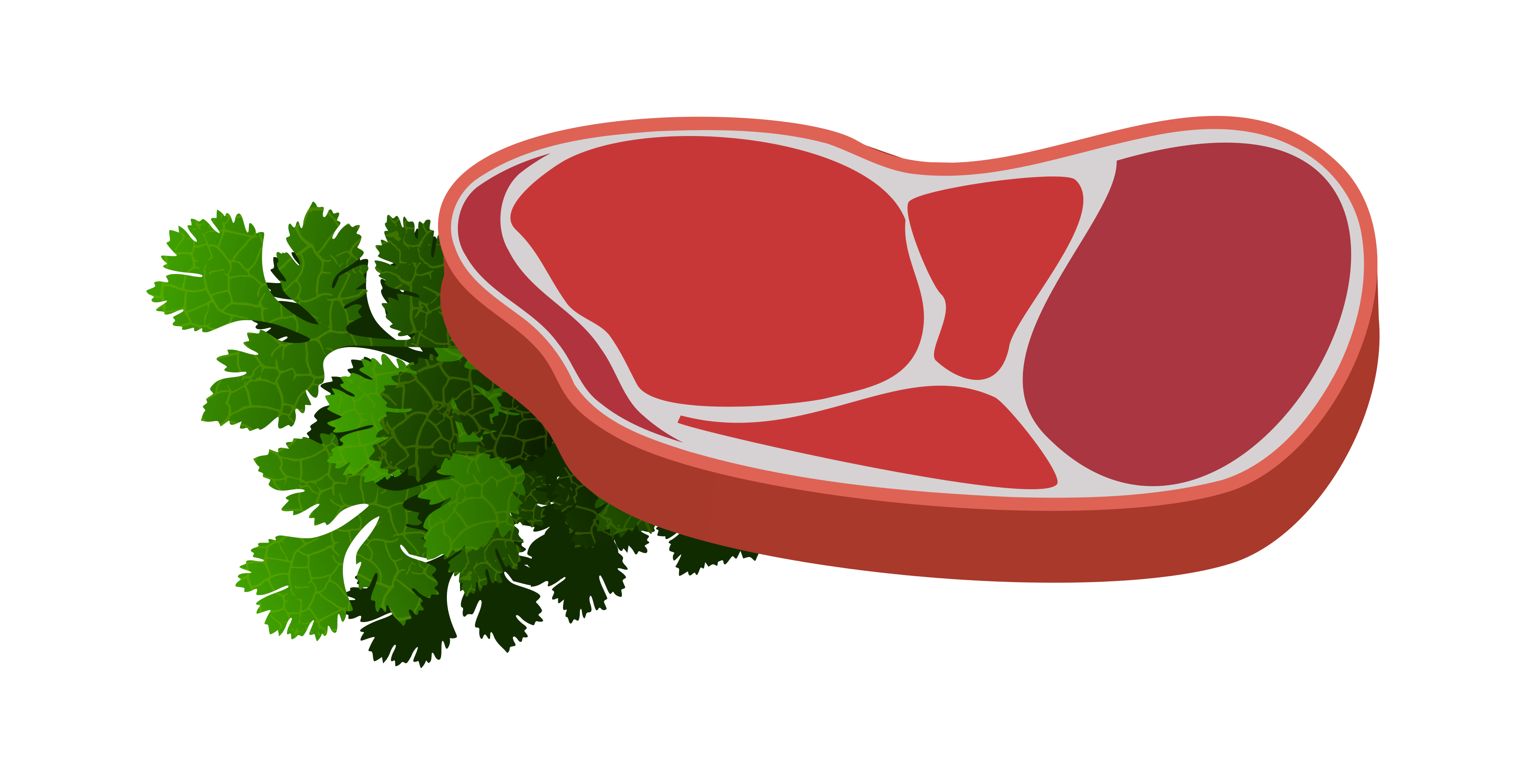 Raw Steak clipart 3892x2000.