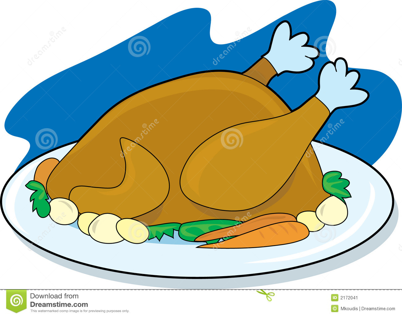 Platter of food clipart.