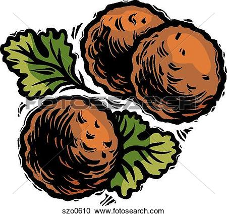 Meatballs Clip Art and Stock Illustrations. 40 meatballs EPS.