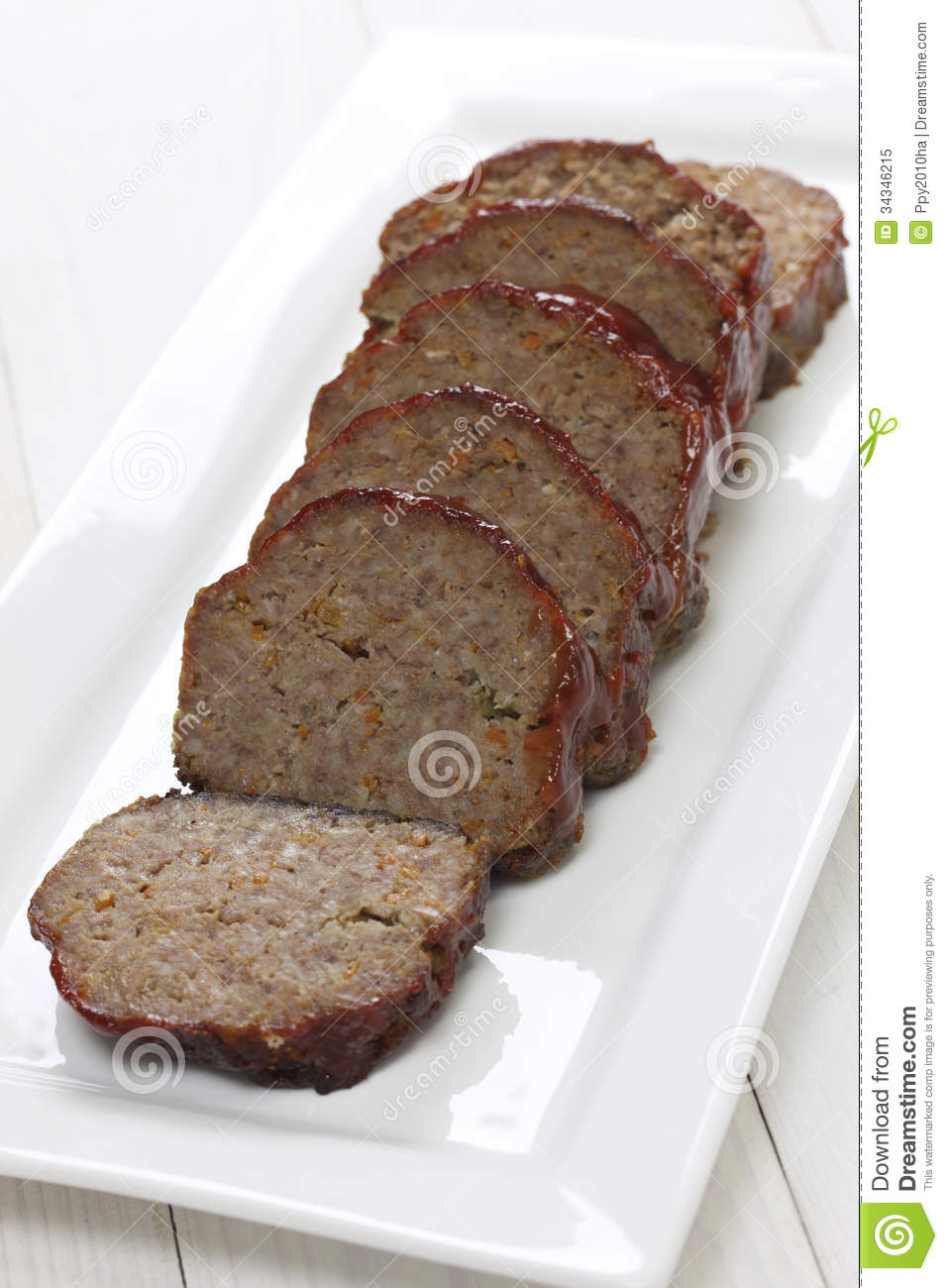 Classic Meatloaf Royalty Free Stock Photo.