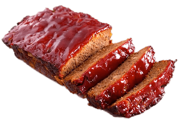 Meatloaf Covered In BBQ Sauce transparent PNG.
