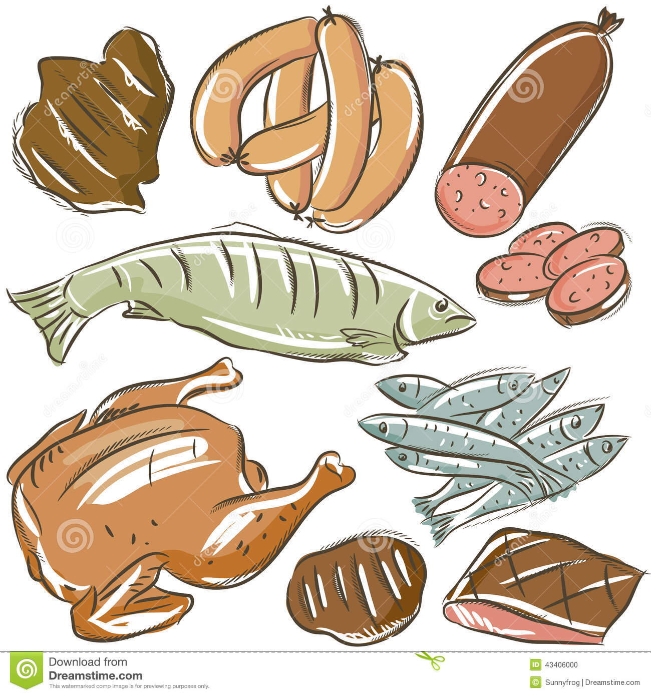 Meats clipart - Clipground